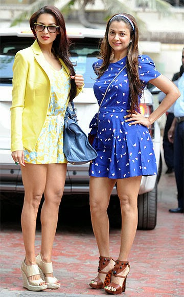 Sisters Malaika Arora Khan and Amrita Arora Ladak rock their respective looks