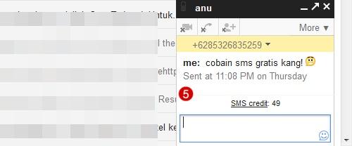 tekan enter untuk mengirim pesan teks