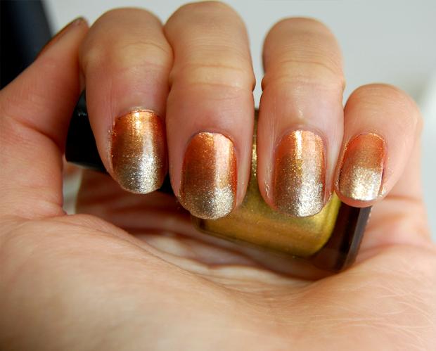 nail diy autumn ombre manicure