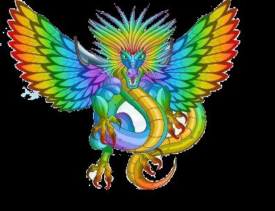 imagen del dragon arcoiris
