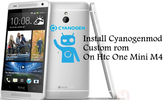 cyanogenmod cm 12.1 custom rom on Htc One Mini M4