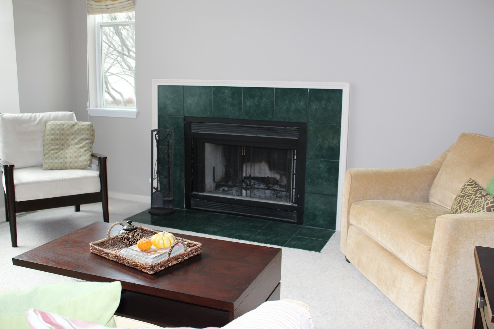Fireplace remodel the before the happily ever after for Fireplace renovations before and after