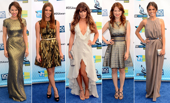 Charity Shea// Ashley Greene In Michael Kors// Lea Michele In Armani