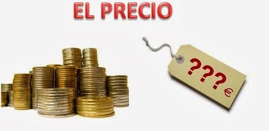 establecer el precio de un producto: