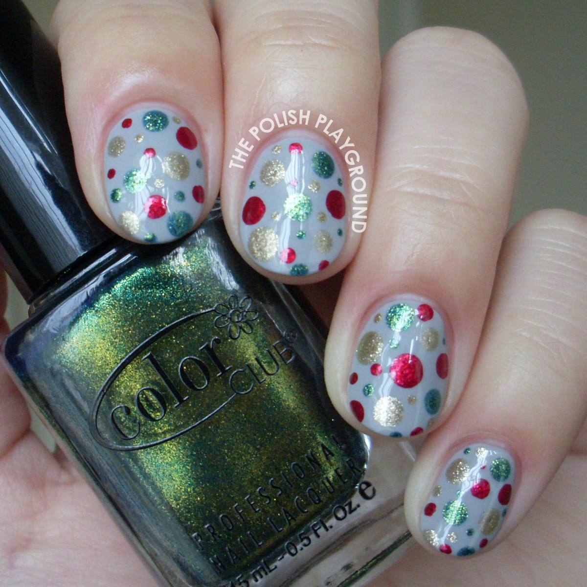 Festive Dotted Nail Art