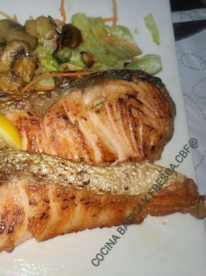 Cocina basica y fresca escalopines de salmon con - Salmon con champinones ...