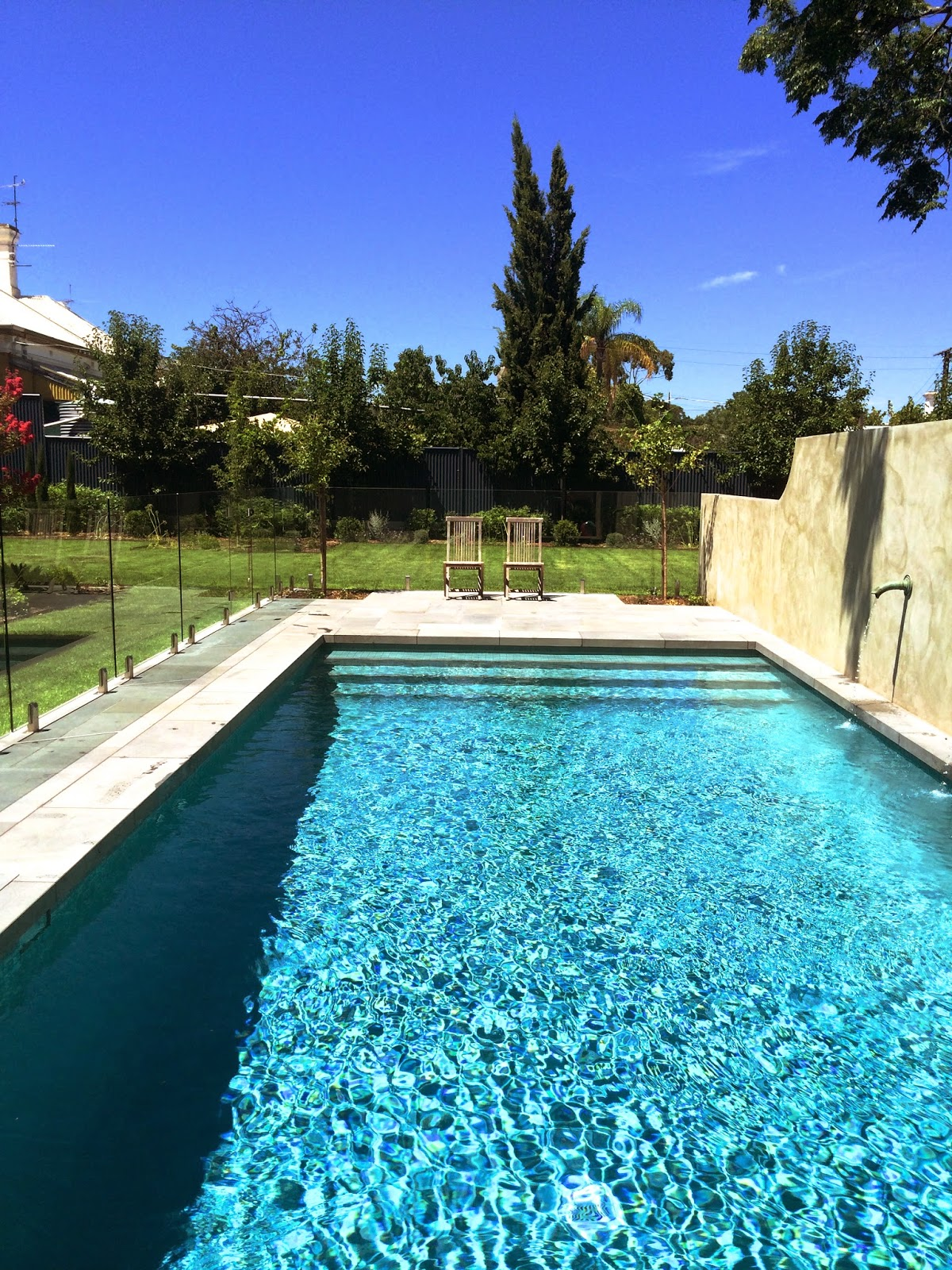 Adelaide Villa Finished Pool Pictures And Garden Progress