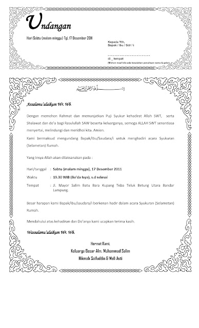 Contoh Undangan Syukuran Kelahiran Anak Murah Pelautscom Picture