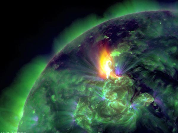 gambar photo image aurora borealis january januari 2012
