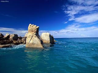 Praslin Island in Seychelles