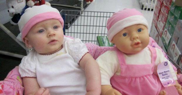 15 bebês muito parecidos com suas bonecas