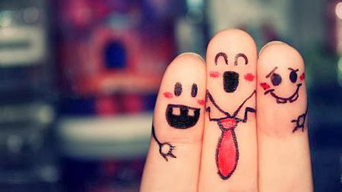 Những hình vẽ lên ngón tay dễ thương đáng yêu