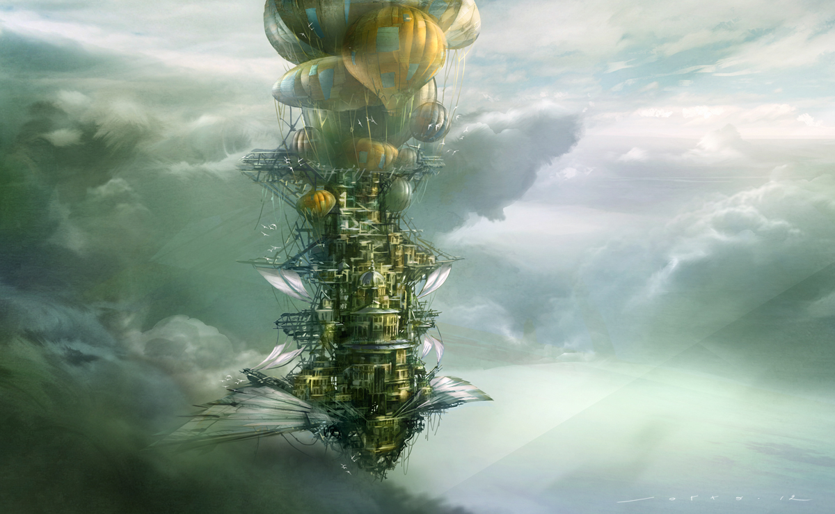 JOTTO Design: Floating cities... Floating City Steampunk