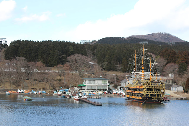 Departing from Togendai-ko for Hakone Sightseeing Cruise  and you may able to see Mount Fuji in the clear days at Japan