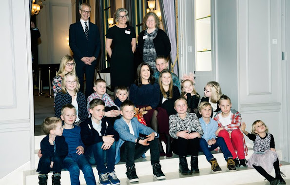 Crown Princess Mary of Denmark during the presentation of the Heart Association (Hjerteforeningen) research grants at the Hotel d'Angleterre