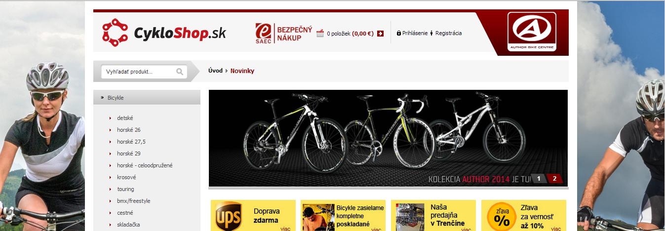 Predstavenie e-shopu Cykloshop.sk