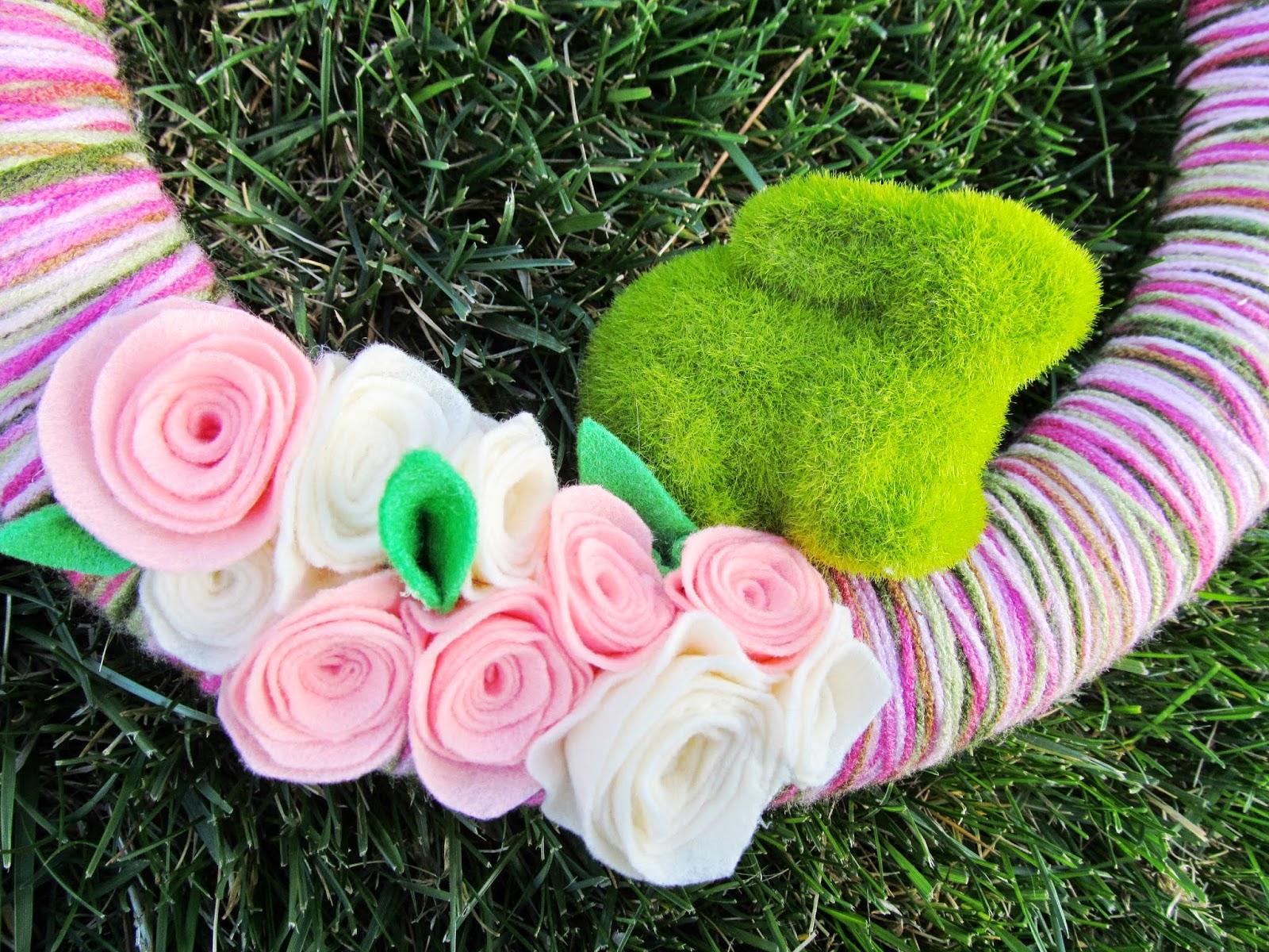 Cute little mossy bunny on a Spring wreath!