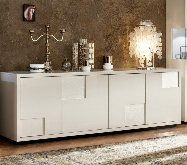 luxury gloss white sideboard designs for modern interior. Black Bedroom Furniture Sets. Home Design Ideas