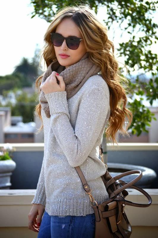 Sequin Sweater-LA style blogger- Winter Outfit- Old Navy Boyfriend Jeans-Golden Divine Blog