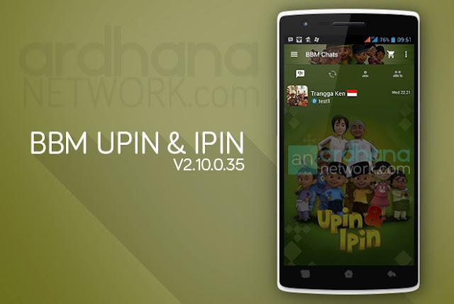 BBM Upin & Ipin - BBM Android V2.10.0.35