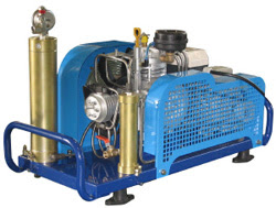 scuba compressor showing the required filters