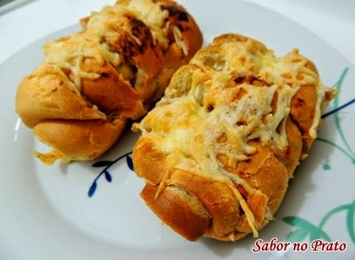 Pão Sanfona feito na fritadeira sem óleo