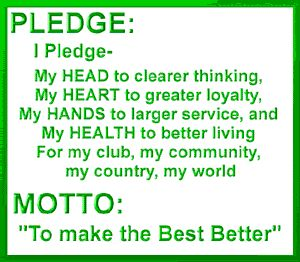 Gratifying image throughout 4-h pledge printable