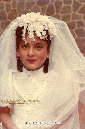 Kareena Kapoor as bride - childhood pic - Kareena Kapoor Childhood unseen Pic