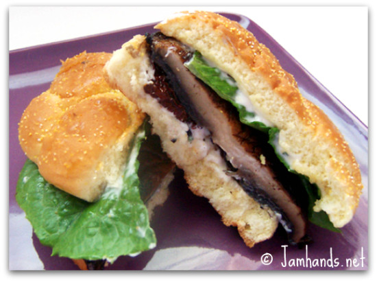 Jam Hands: Grilled Portobello Sandwiches with Garlic Herbed Mayo