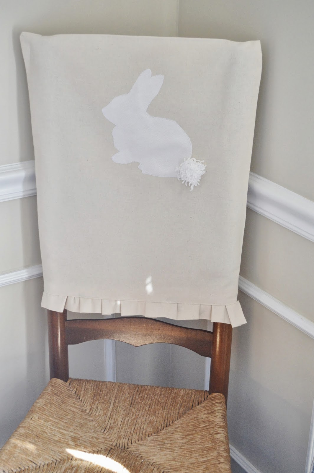 Blue Ribbon Kitchen: ADORABLE BUNNY CHAIR COVERS FOR EASTER