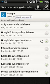 instruction syncronize google mail