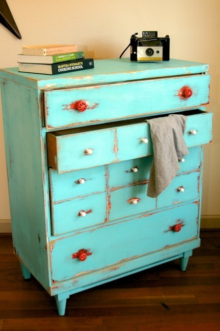 Dishfunctional Designs: Upcycled Dressers: Painted, Wallpapered ...
