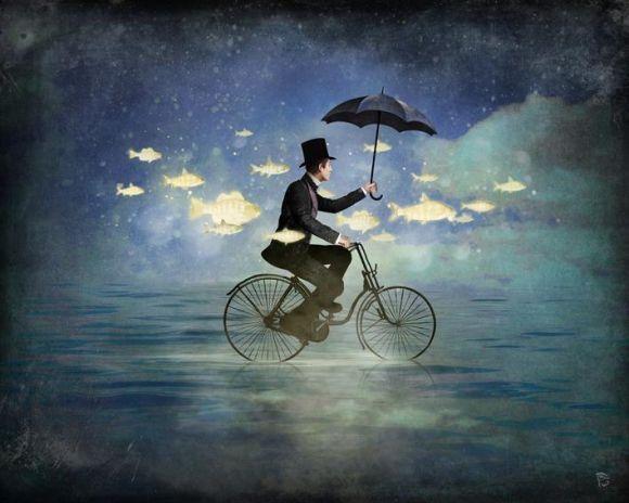 Christian Schloe ilustração digital surreal onírica sonhos A amizade