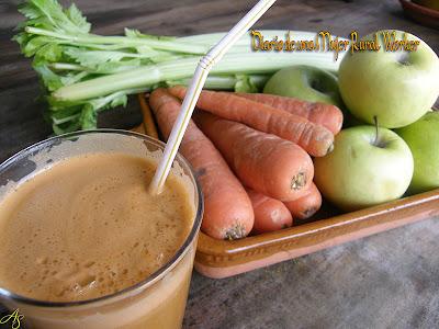 Jugo de manzana, zanahoria y apio