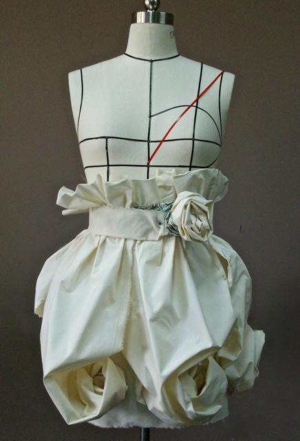 Draping Project Flower Skirt Elena Fashion Design