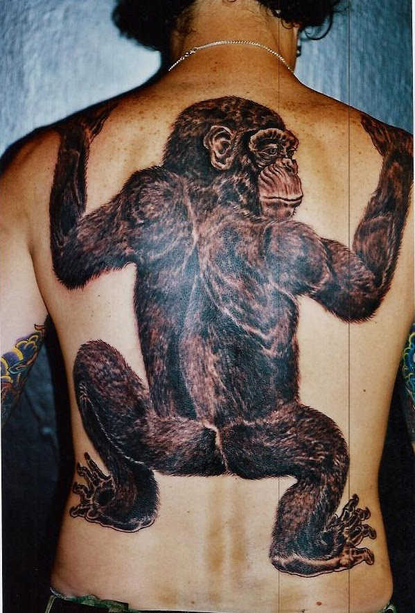 tribal monkey tattooanimal tattooanimal tattoo. Black Bedroom Furniture Sets. Home Design Ideas