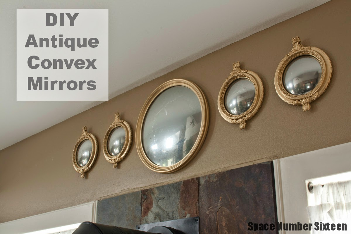 DIY Antique Convex Mirror Turorial