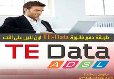 كيفيه دفع فاتورة تى اي داتا TE-Data اون لاين Online علي النت
