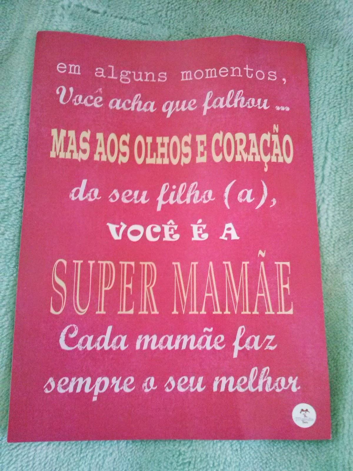 Frase para super mamãe