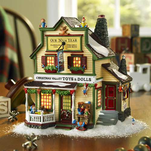 56 new england village christmas valley toys and dolls 56677 - Miniature Christmas Village