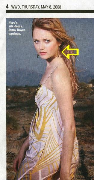 WWD - Women's Wear Daily features Jenny Dayco jewelry