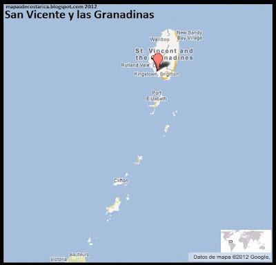 Mapa de San Vicente y las Granadinas , Google Maps