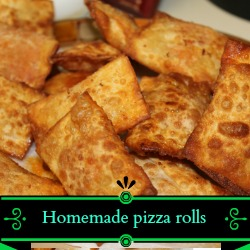 Kid approved!! Homemade pizza rolls! YUM!