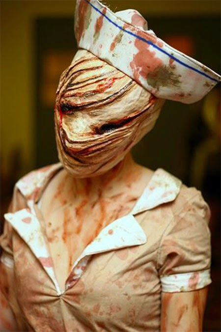 crazy scary costume and mask