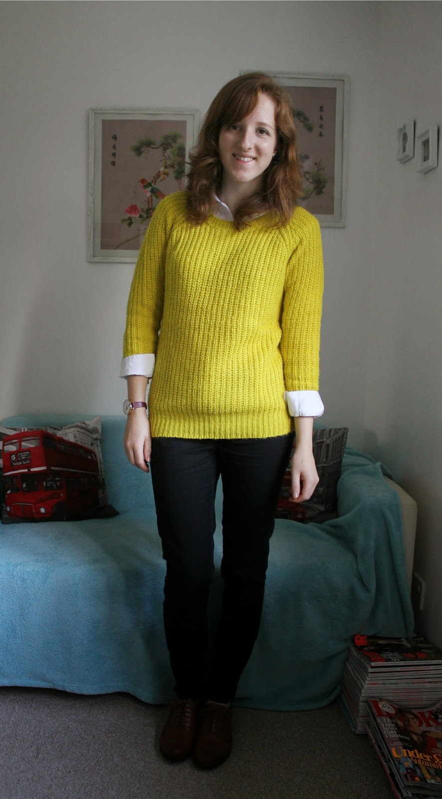 OOTD Lime Green Jumper and Olivia Burton Watch