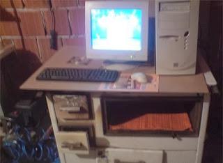 smešna slika: savršeno mesto na šporetu za PC