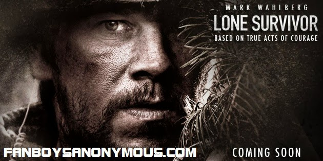 Mark Wahlberg Ben Foster war action movie Lone Survivor poster art