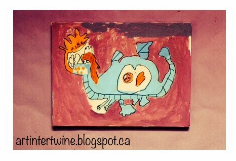 Art Intertwine - Dragon Painting Art Activity For Kids