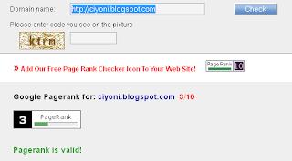 Update PageRank 2013 Terbaru Ciyoni-Blogspot 2