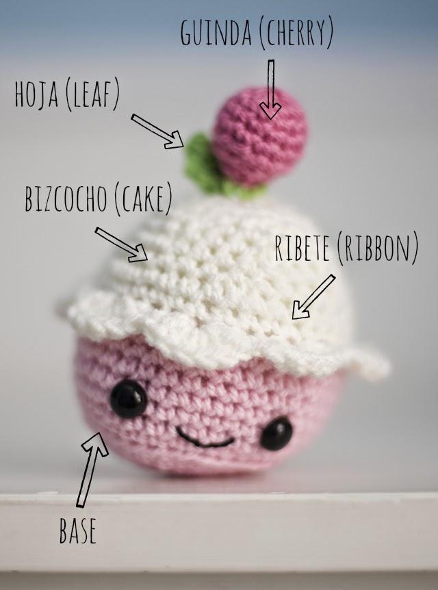 El Gallo Bermejo: Un cupcake (patrón gratis)